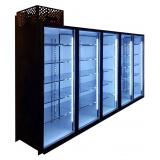 Холодильная камера на 5 стеклянных дверей КОЛОВРАТ 5