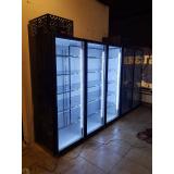 Холодильная камера низкотемпературная на 3 стеклянных двери КОЛОВРАТ 3