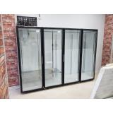 Холодильная камера низкотемпературная на 4 стеклянных двери КОЛОВРАТ 4