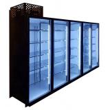 Холодильная камера низкотемпературная на 5 стеклянных дверей КОЛОВРАТ 5