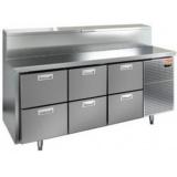 PZ2-222/GN (1/6H) Стол холодильный для пиццы HICOLD