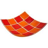 Блюдо «Каро» Bdk 514121,  L=30, B=30см,  оранжев., красный