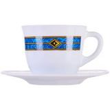 Набор кофейных пар «Астрал»(6шт) Bormioli Rocco 400821 A, стекло, 160мл