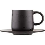 Пара чайная коническая «Оникс» Dymov 286436,  керамика,  200мл
