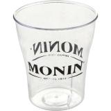 Чашка «Монин»; пластик; 95мл; прозр.