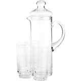 Кувшин с кр. +поднос+4 стакана (набор) Neman 1520-set, стекло, прозр.