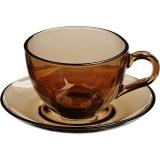 Пара чайная Pasabahce 97948/b/bronze, стекло, 180мл