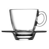 Пара кофейная «Аква» Pasabahce 95756/b, стекло, 70мл