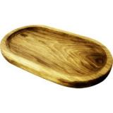 Блюдо д/подачи овал. PPwood Q502O-06N,  дуб,  H=25, L=300, B=180мм