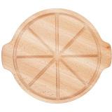Доска д/пиццы с 2ручками PPwood F121O-05N,  бук,  D=25см