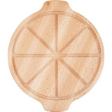 Доска д/пиццы с 2ручками PPwood F122O-05N,  бук,  D=30/26см