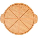 Доска д/пиццы с 2ручками PPwood F123O-05N,  бук,  D=35см