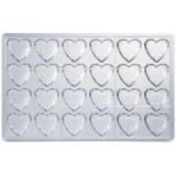Форма д/шоколада «Бриллиант сердце» на листе 275*175мм 24шт Martellato MA1993