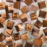 Форма д/шоколада «Буквы и цифры 1часть» 24шт Matfer 380115