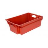 Ящик для колбасно- мясной продукции серии 200 модель 206 красный