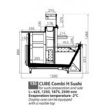 """Холодильная витрина компрессионого типа Эллипс """"Sushi Combi S Cube"""" ВХС-1,25/0,22"""