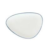 Тарелка мелкая «Органика»; фарфор; L=28,B=20,5см; белый,синий