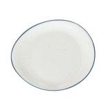 Блюдо круглое «Органика»; фарфор; D=32см; белый,синий