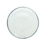 Тарелка для пасты «Органика»; фарфор; D=27см; белый,синий