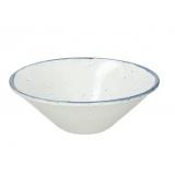 Салатник «Органика»; фарфор; D=22см; белый,синий