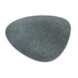 Блюдо «Органика»; керамика; L=34,5,B=25см; серый