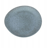 Блюдо круглое «Органика»; керамика; D=32см; серый