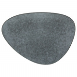Тарелка мелкая «Органика»; керамика; L=28,B=20,5см; серый