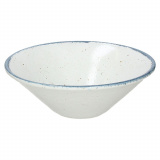 Салатник «Органика»; фарфор; D=20см; белый,синий