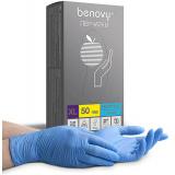 BENOVY Nitrile Chlorinated, перчатки нитриловые, голубые, XL, 50 пар в упаковке