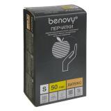 BENOVY Latex Double Chlorinated, перчатки латексные, цвет латекс, S, 50 пар в упаковке