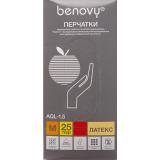 BENOVY Latex High Risk, перчатки латексные, повышенной прочности, синие, M, 25 пар в упаковке