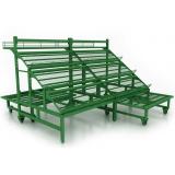 Стеллаж для овощей и фруктов с подиумом на колесах (Тип 1)