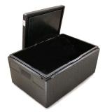 Термоконтейнер 600х400х320мм, объем 46л, пенополипропилен, цвет черный Expert GN EX1257