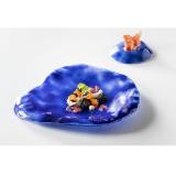 """Блюдо глубокое стеклянное """"Индиго"""" 28х24см, цвет синий, Indigo XGLAS-1302"""