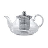 """Чайник """"Вербена"""" 0,8л боросиликатное стекло с металлическим фильтром QXA123-08"""