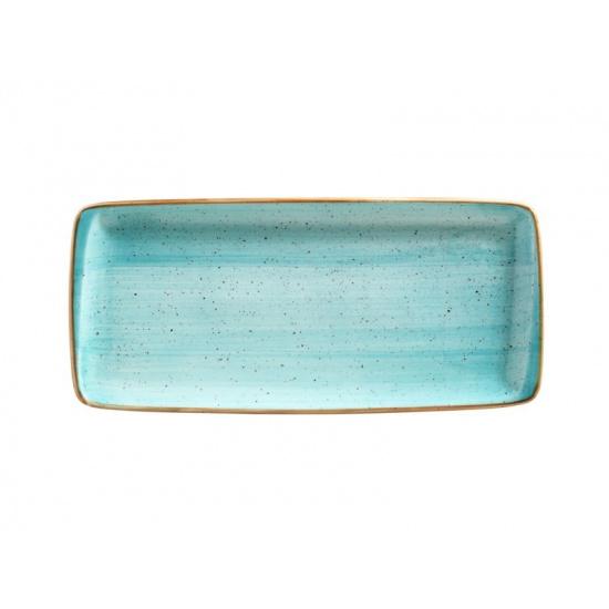 Bonna aqua aura блюдо прямоугольное aaq mov 35 dt (34х15 см, голубой) - 1