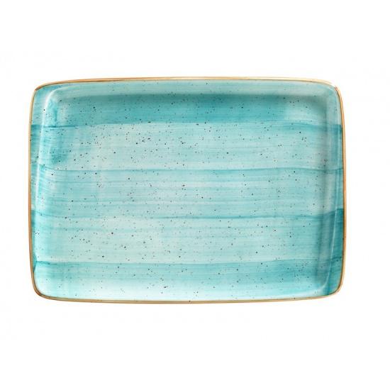 Bonna aqua aura блюдо прямоугольное aaq mov 41 dt (36х25 см, голубой) - 1