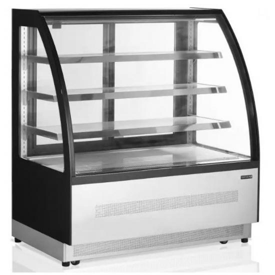 Витрина холодильная кондитерская tefcold lpd900c-p/black черная/нерж - 1