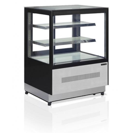 Витрина холодильная кондитерская tefcold lpd900f-p/black черная/нерж - 1