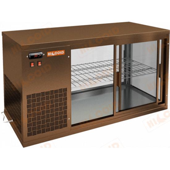 Vrl 1300 l bronze настольная холодильная витрина - 1