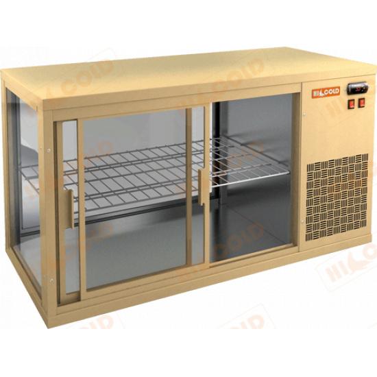 Vrl 1100 r beige настольная холодильная витрина - 1