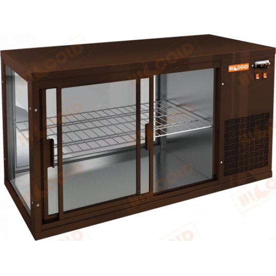 Vrl 1100 r brown настольная холодильная витрина - 1