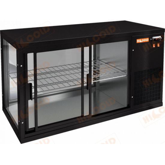 Vrl 1300 r black настольная холодильная витрина - 1