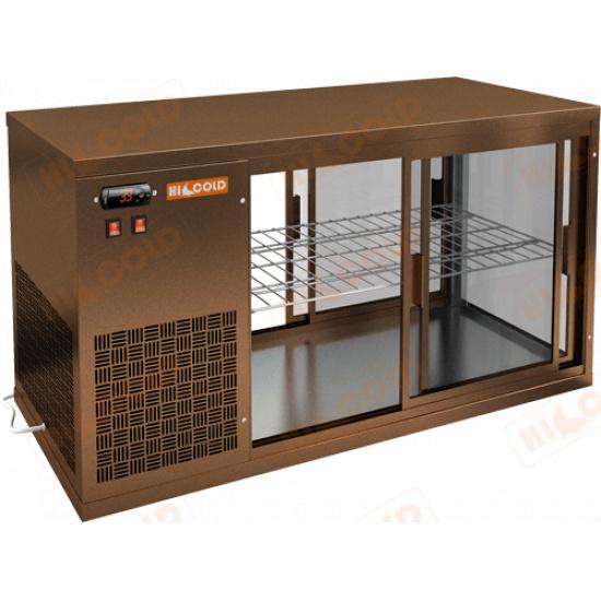 Vrl t 1100 l bronze настольная холодильная витрина - 1