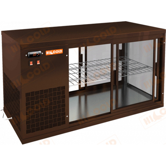 Vrl t 1300 l brown настольная холодильная витрина - 1