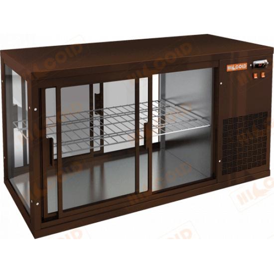 Vrl t 1100 r brown настольная холодильная витрина - 1