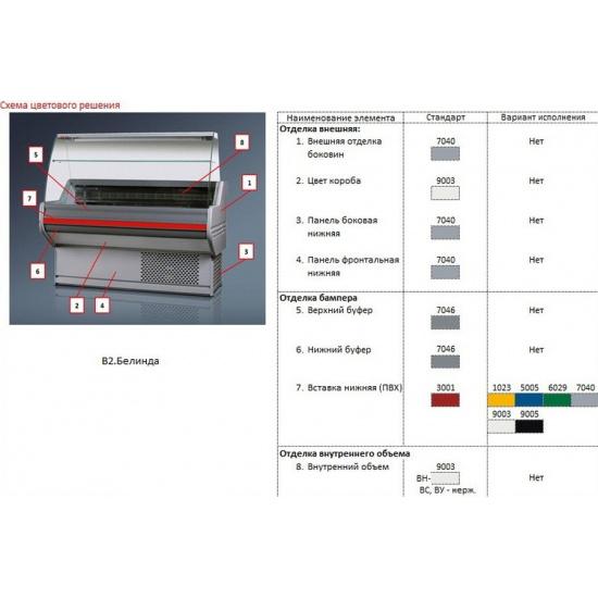 Холодильная витрина белинда вн 2-200 - 1