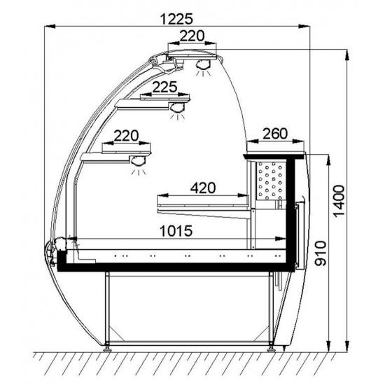 Холодильная витрина умбриэль вс 19-130 - 1