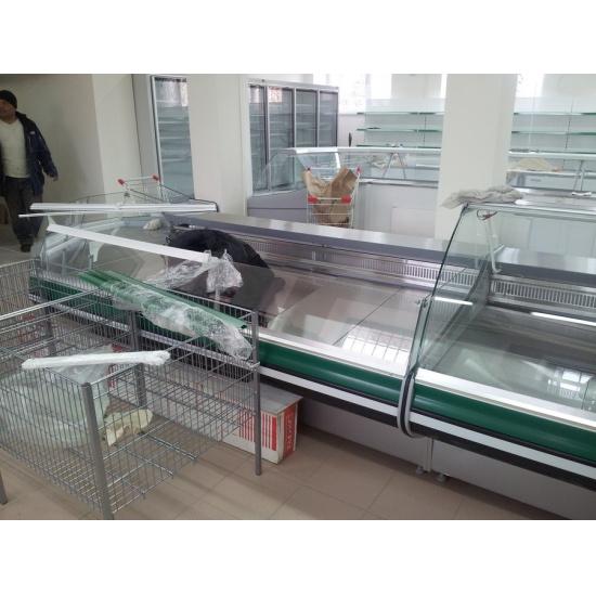 Холодильная витрина титаниум вс 5-130-02 self (без боковин, вынос) - 1