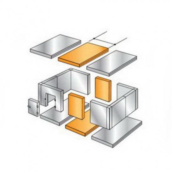 Расширительный пояс 4400х600 мм / 2040х600 мм для камеры высотой 2240 мм (100 мм) - 1